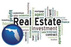 Florida - real estate concept words
