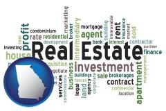 Georgia - real estate concept words