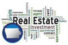 Iowa - real estate concept words