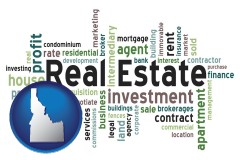 Idaho real estate concept words