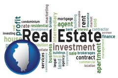 Illinois - real estate concept words