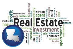 Louisiana real estate concept words