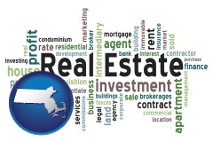 Massachusetts - real estate concept words