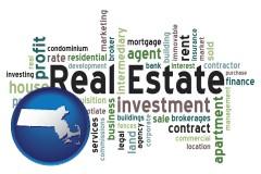 Massachusetts - real estate concept words