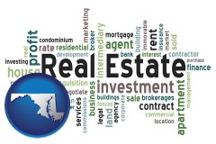 Maryland - real estate concept words