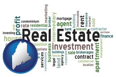 Maine - real estate concept words