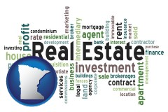 Minnesota real estate concept words
