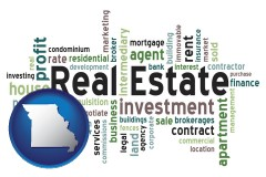 Missouri real estate concept words