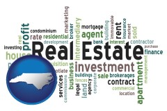 North Carolina real estate concept words