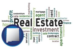 New Mexico - real estate concept words