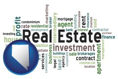 Nevada - real estate concept words