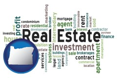 Oregon - real estate concept words