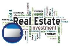 Pennsylvania - real estate concept words