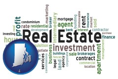 Rhode Island - real estate concept words
