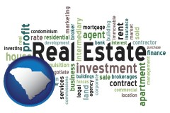 South Carolina - real estate concept words
