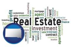 South Dakota real estate concept words