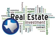 Texas real estate concept words