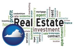 Virginia real estate concept words