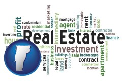 Vermont - real estate concept words