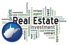West Virginia - real estate concept words