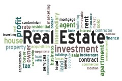 cluster of real estate terms