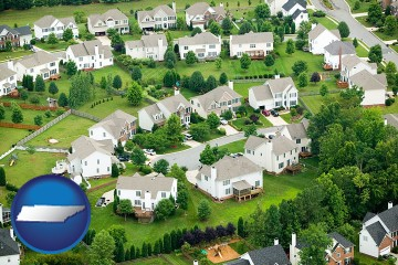 a housing development with Tennessee map icon
