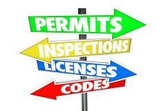 building permits, inspections, licenses, and codes