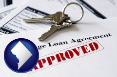 Washington, DC - an approved mortgage loan agreement