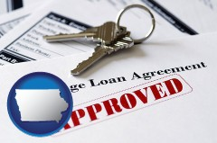 Iowa - an approved mortgage loan agreement