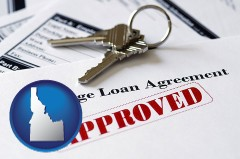 Idaho - an approved mortgage loan agreement