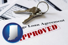 Indiana - an approved mortgage loan agreement