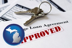 Michigan - an approved mortgage loan agreement