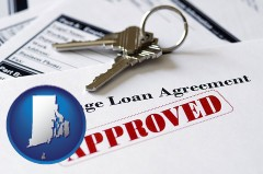 Rhode Island - an approved mortgage loan agreement