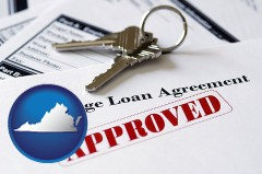 Virginia - an approved mortgage loan agreement
