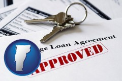 Vermont - an approved mortgage loan agreement