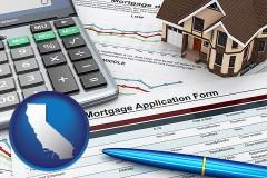 California - a mortgage application form