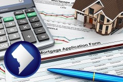 Washington, DC - a mortgage application form