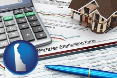 Delaware - a mortgage application form