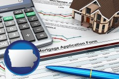 Iowa - a mortgage application form