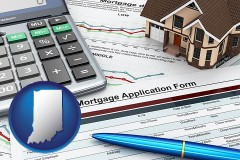 Indiana - a mortgage application form