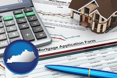 Kentucky - a mortgage application form