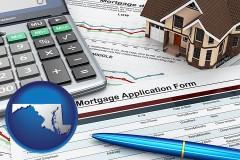 Maryland - a mortgage application form