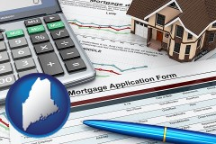 Maine - a mortgage application form