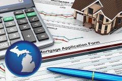 Michigan - a mortgage application form