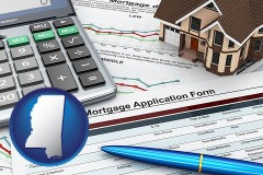 Mississippi - a mortgage application form