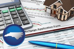 North Carolina - a mortgage application form