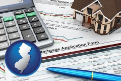 New Jersey - a mortgage application form