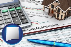 New Mexico - a mortgage application form