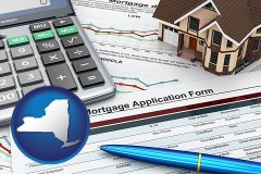 New York - a mortgage application form