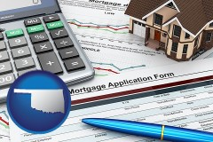 Oklahoma - a mortgage application form
